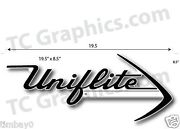 Uniflite Boat Laser Cut Plasticrepro 1/8 Thick 19.5 X 8.5 White And Black