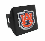 Auburn Color On Black Metal Hitch Cover