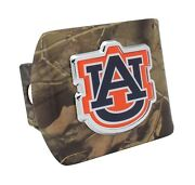 Auburn Tigers Colors On Camo Hitch Cover