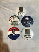 Barack Obama Campaign Pin Button Lot Of 5 Political Buttons Free Shipping