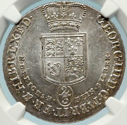 1798 Germany German States George Iii Hannover Silver Coin 2/3 Thaler Ngc I83706