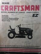 Sears Craftsman 15.5 Ic Hp 6-sp 42 Lawn Tractor Owner And Parts Manual 917.258522