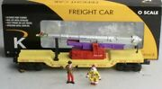 K-line By Lionel Circus Transport Human Cannon Ball Flat Car Ringling Bros Clown