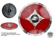 24 Full Contact Viking Re-enactment Shield For Costume Stage Decoration Or Prop