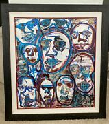 Original 28andrdquo X 28andrdquo Acrylic And Oil Pastel On Canvas Painting Basquiat-esque Wow