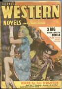Western Novels And Stories--april 1949--spicy Girl Art Pulp Cover--allen Anderson