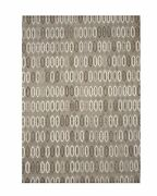 Eorc Ocr12gy Handmade Wool And Viscose Raga Rug 10and039 X 14and039 Brown