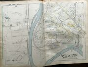 Original 1899 Youngstown Ohio Lower Gibson River Bend Goose Island Atlas Map