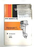 1976 Johnson Vintage Owners Operators Manual 2 Hp Outboard Motor 387407