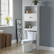 Bathroom Storage Over The Toilet Space Saver Cabinet With Shelves Rack Organizer