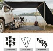 Shatex Rv Awning Shade Blackout With 90 Privacy Screen Free Kit 8ftx14ftblack