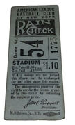 8/9/1933 Yankees Stub Gehrig Last Hm Gm Before Becoming Iron Horse-babe Ruth Hit