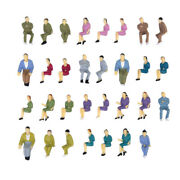 Lots Of 50 Painted Model Train Seated Figures People Passengers O Scale 150