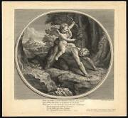 Antique Master Print-cupid Riding A Satyr-love Guide-charles Dupuis-coypel-1719