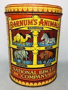 Vintage Barnum Animal Crackers Collectible Tin 7 Oz. National Biscuit Company
