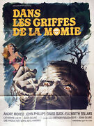 Poster Folded 47 3/16x63in In The Claw De La Mummy 1967 Andre Morell Vgc