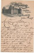 1889 Graphic Letterhead And Letter The Wyoming Hotel Scranton Pa