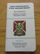 1965 San Francisco Fire Department Fire Alarm Boxes Signal Code Company Location