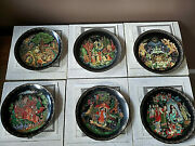 Set Of Six Russian Legends Limited Edition Collector Plates W/certificates 1-6