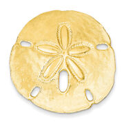 14k Yellow Gold Polished Fits Up To 10mm And 8mm Medium Sand Dollar Slide D1004