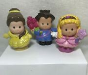 Fisher Price Lot Of 3 Little People Belle Princess