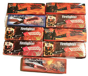 9 Frost Cutlery Knives In Boxes All New All Fire Fighter 2 Homeland Heroes