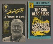 1954/55 Sun Also Rises And Farewell To Arms By Hemingway 4th Bantam Paperback Lot