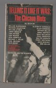 1969 Telling It Like It Was The Chicago Riots Vg 4.0 1st Signet T3856 Paperback