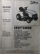 Sears Craftsman 12.5 Hp 38 6-speed Lawn Tractor Owner And Parts Manual 917.255575