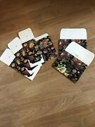 5 Vintage Flora/onyx Box Paper Kraft Gift Boxes Victorian Event Party New
