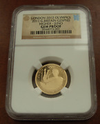 Great Britain 2011 Gold 1/4 Oz 25 Pounds Ngc Gem Proof London Olympics - Juno
