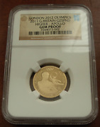 Great Britain 2011 Gold 1/4 Oz 25 Pounds Ngc Gem Proof London Olympics - Apollo