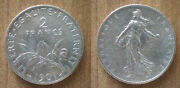 France 2 Francs 1901 Silver Semeuse Free Ship World Franc Frcs Frc Cent Cents