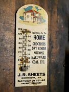Antique J.r.sheets Montandon Pa Thermometer Advertising Hardware Store Coal-gr8