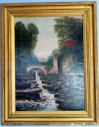 Walter Field 1837-1901 Authentic Antique British Large Oil Painting, Signed