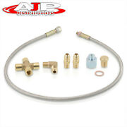 Turbo Braided Oil Inlet Feed Line 1/8 Npt 36 Inch T3 T4 T3/t4 T70 T61 T04e T60