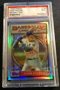 1993 Topps Finest Refractor Rookie 199 Mike Piazza Psa 9 Centered Dodgers