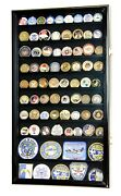 Large Challenge Coin Display Case Box Holder Military Coins 98 Uv Adjustable