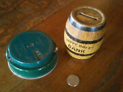 2 Vintage Banks 1 Tin Happy Days Coin Bank And 1 Advertises American Stainless