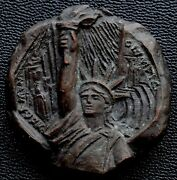 1984 Los Angeles Olympic And Statue Of Liberty Bronze Medal/plaque By Alex Shagin