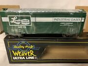 ✅weaver Linde Union Carbide Industrial Gases 40andrsquo Ps-1 Box Car O Scale Train