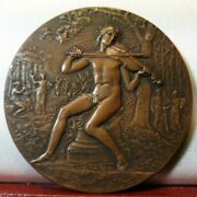 1931 Superb French 68mm Bronze Music Honor Prize Medal By Dubois
