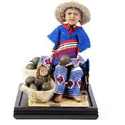 14and039and039 Aguacatero Wax Sculpture Mexican Folk Art