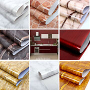 5m Vinyl Marble Self Adhesive Roll Wallpaper Contact Paper Peel And Stick 23x196