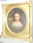 Fine 19th Century Portrait Of Young Girl By A Tree
