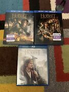 The Hobbit Trilogy Blu-ray And Dvd 3 Movies Collection Like New No Digital Cp