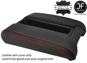 Red Stitching Sliding Phone Armrest Real Leather Cover Fits Bmw E39 1996-2003