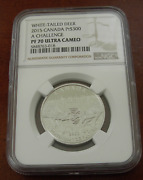 Canada 2015 Platinum 1 Oz 300 Ngc Pf70uc White-tailed Deer Mintage - 200