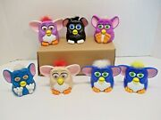 1998 Furby Lot Of 7 Different Mcdonalds Happy Meal Toys