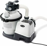 Intex Krystal Clear Sand Filter Pump For Above Ground Pools 10-inch 110-120v W
